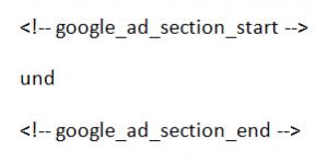 Google AdSense Befehle