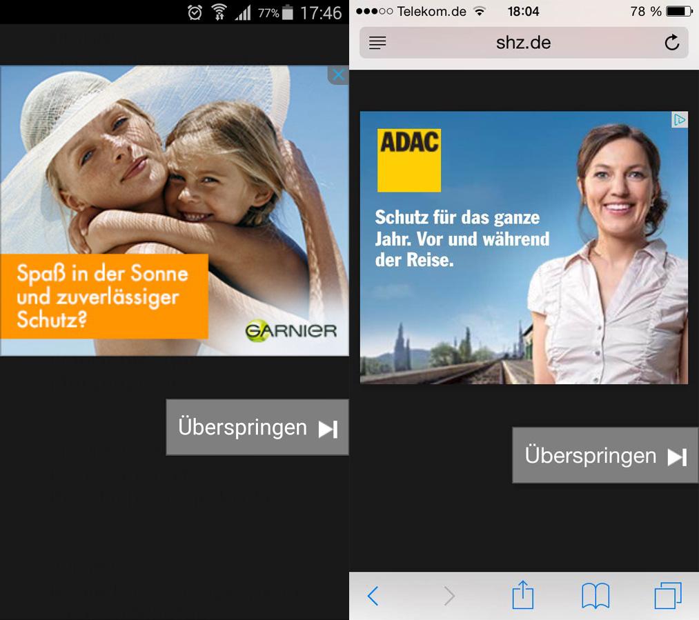 Mobile Web Interstitial