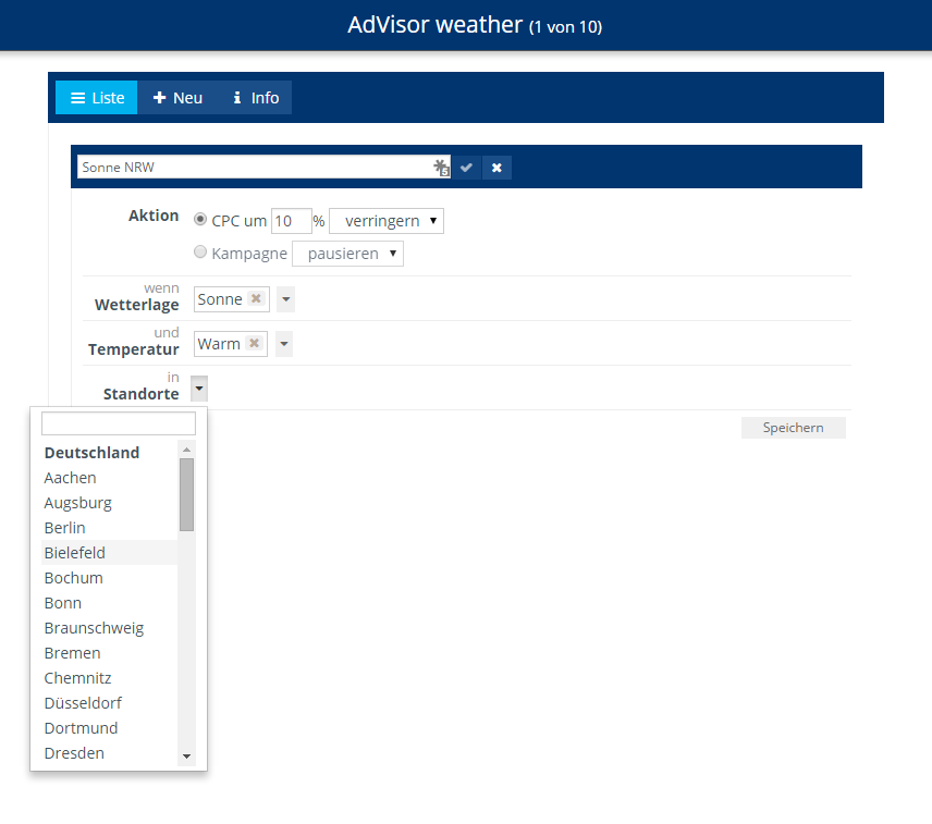 AdVisor weather