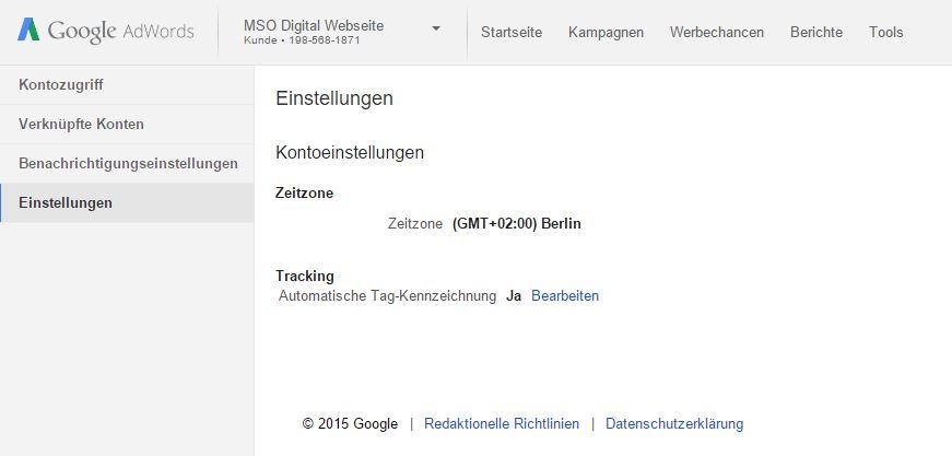 Automatische Tag Kennzeichnung in Google AdWords