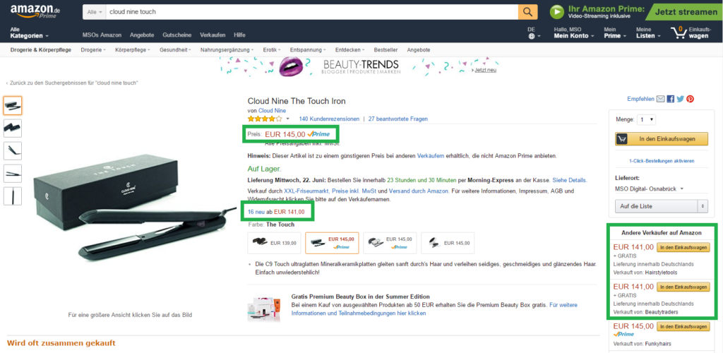 Amazon Buybox Optimierung