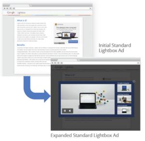 Lightbox Ads Beispiel