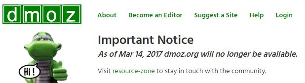 Dmoz Statement zur Schließung