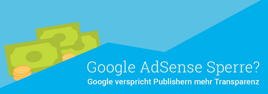 Google AdSense Sperre