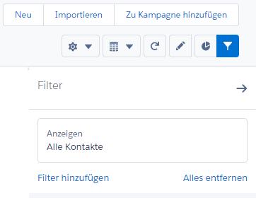 Salesforce: Filteransicht einblenden