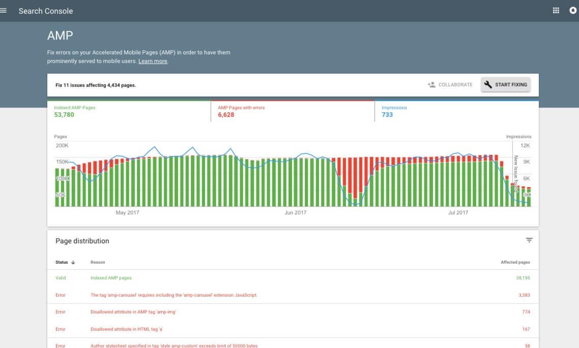 search console benutzeroberfläche neuer designtest