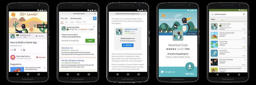 Optimierte Anzeigen für App-Installationen