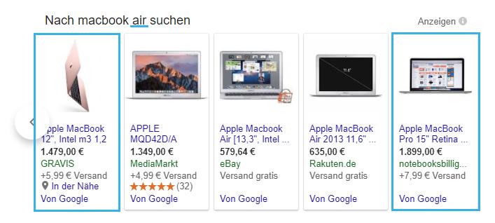 Falsche Produktausspielung in Google Shopping