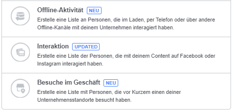 Offline Targeting auf Facebook