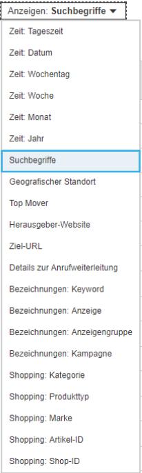 Optimierungsansätze für Bing Shopping und Suchbegriffs-Analyse