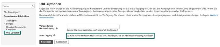 Auto Tagging aktivieren, um die Erfassung von Safari-Conversions sicherzustellen