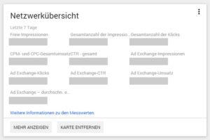 Netzwerkübersicht DFP AdServer