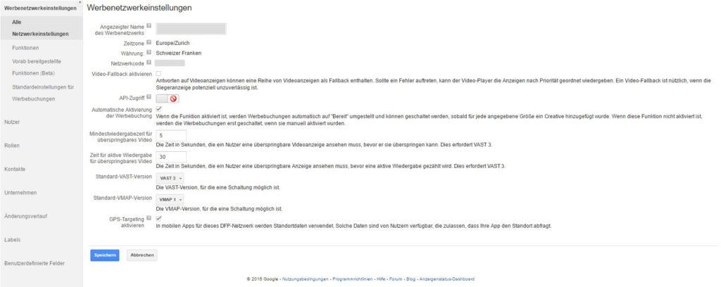 DFP AdServer ohne Kontoverknüpfung von Drittanbieter-Diensten