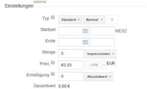 Benutzerdefinierte Felder bei Werbebuchung im DFP AdServer