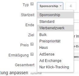 Schaltungsprioritäten bei Werbebuchungen im DFP AdServer