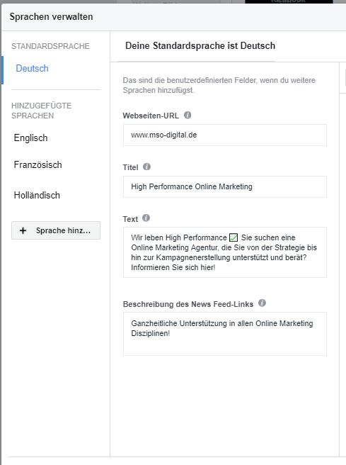 Dynamische Sprachoptimierung auf Facebook