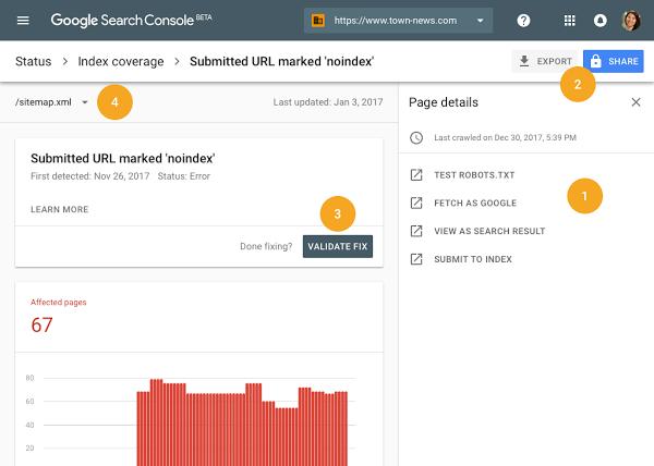 Indexierungsabdeckung SearchConsole