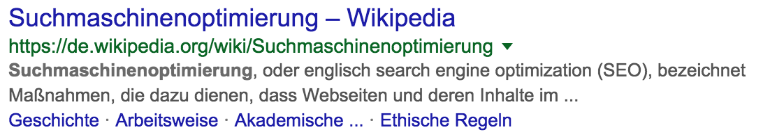 Gekürzte Meta Description