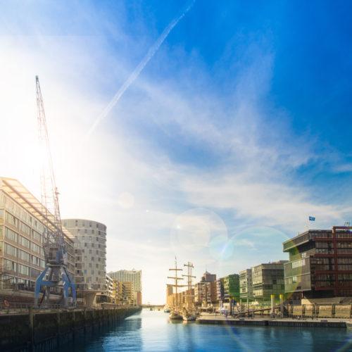Online Marketing Agentur Hamburg Hafencity Blick aus Büro