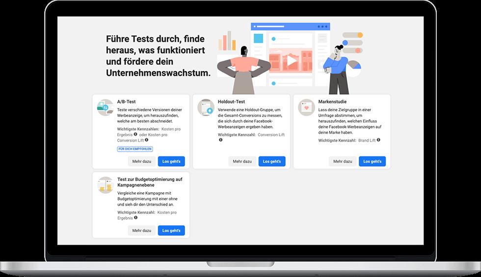 Facebook Experimente - Business Manager