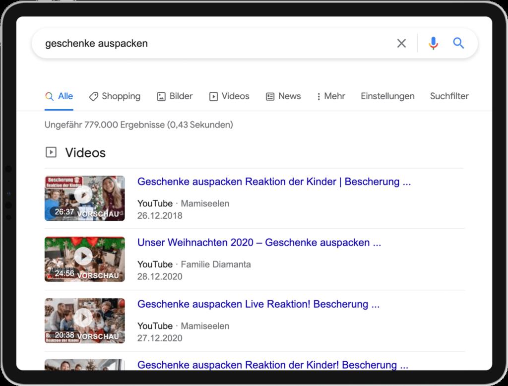 Universal Search - Videos - 02