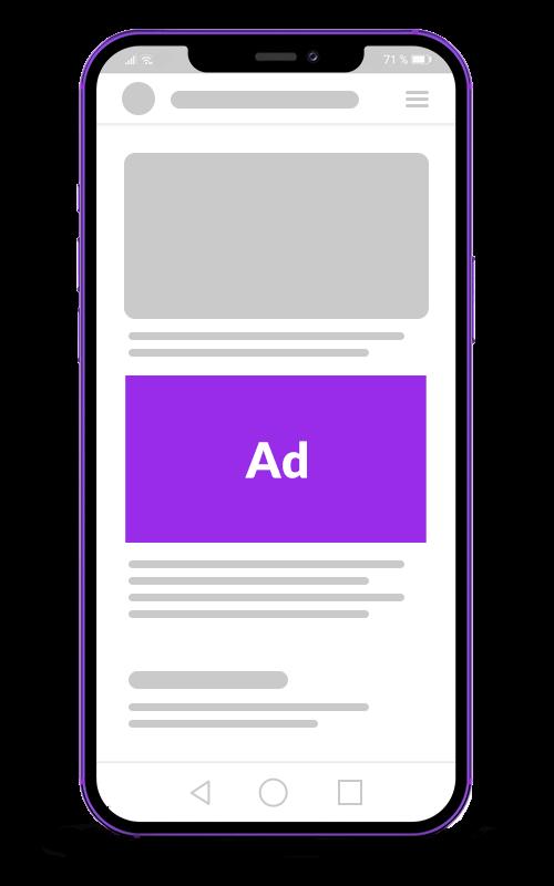 smartphone mockup mit anzeige