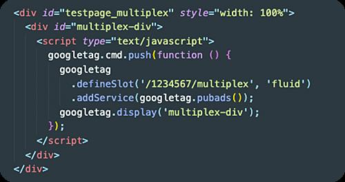 Code Multiplex Ads bei Google