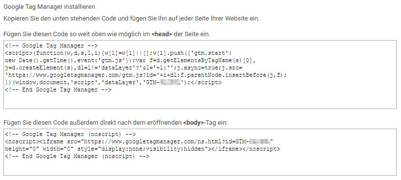 Google Tag Manager Code Snippets