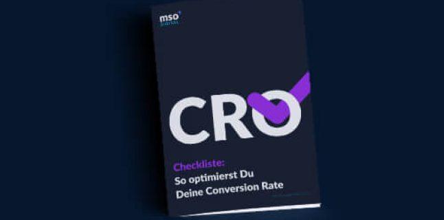 Checkliste CRO – Grafik Cover